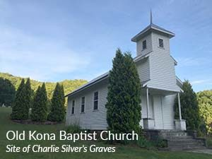 Photo of the Old Kona Baptist Church, site of Charlie Silver's Graves
