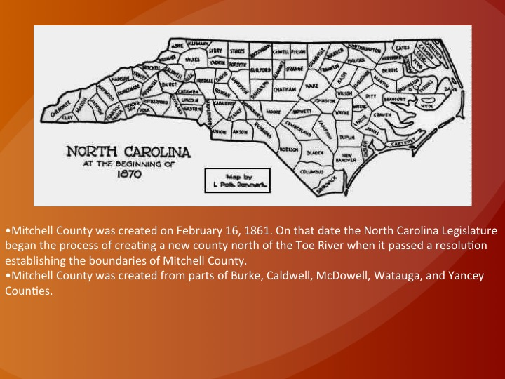 The Development of North Carolina's Counties