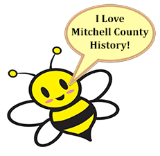 Bee Cartoon saying I Love Mitchell County History!