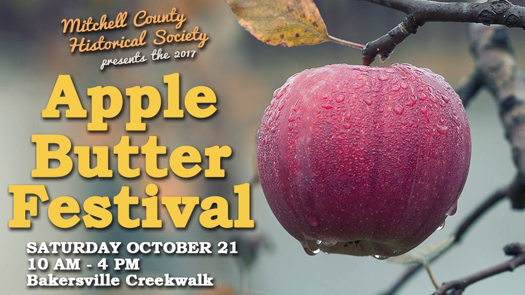 The 2017 Apple Butter Festival returns to Bakersville October 21 from 10 AM to 4 PM