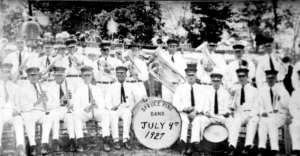 The Spruce Pine band performed patriotic tunes for the event on July 4, 1927.