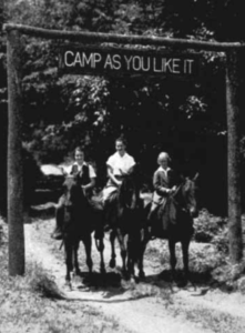 Horseback riding was a popular attraction at the camp. The girls enjoyed a riding ring that the Park- way threatened when it was constructed. Miss Dwight successfully lobbied Parkway of cials for an access road to link the camp with the ring on an adjacent ridge.