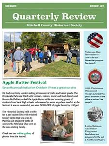 Image of the front cover of the Third Quarter MCHS Newsletter