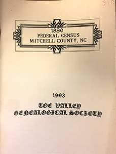 Photo of the cover of the US 1880 Census of Mitchell County book