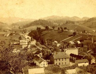 Photo of Bakersville in the early 1900s