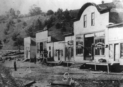 Photo of Lower Street in Spruce Pine taken in the early 1900s
