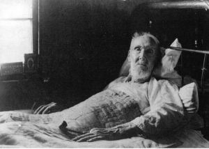 Zachary Taylor McHone (1844 - 1938) in his later years at his home on McHone Mountain above Spruce Pine. Zach was one of 9 children born to Kim and Nancy McHone. Zach had 9 sisters. He served in the 58th CSA Regiment during the Civil War.