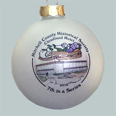 Mitchell County Historical Society's 2018 Christmas Ornament Commemorates The Cloudland Hotel