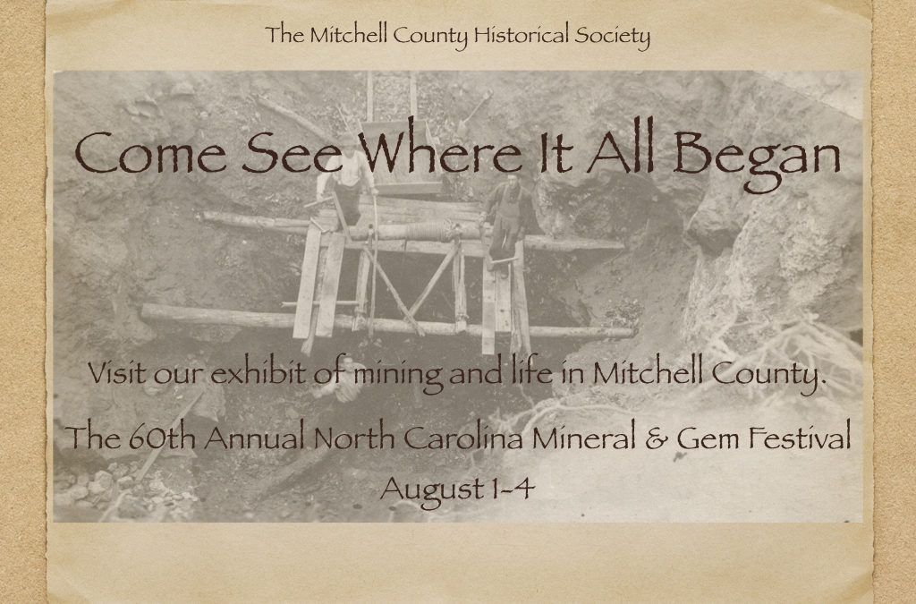 Visit Our Exhibit at the 60th Annual North Carolina Mineral and Gem Festival