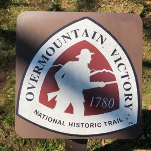 Photo of an Overmountain Victory Trail Sign