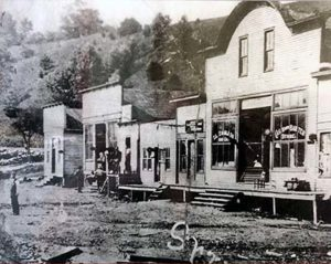 Photo of Lower Street (Locust Steet) in Spruce Pine, North Carolina in the early 1900s