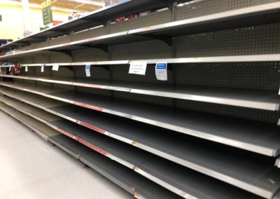 Photo of the Bread Aisle at Walmart, March 25, 2020
