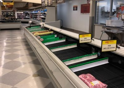 Photo of the Meat Aisle at Ingles, March 25, 2020