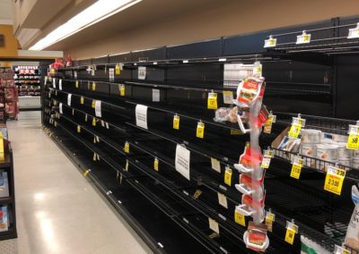Photo of the Bread Aisle at Ingles, March 25, 2020