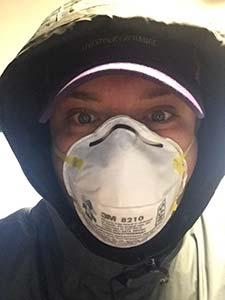 Photo of Brandon Pittman wearing a mask