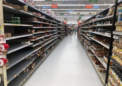 Photo of the Soup Aisle at Walmart on March 25, 2020