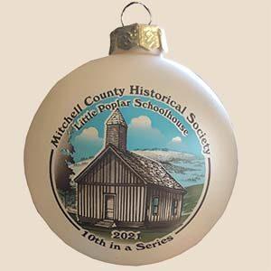 Photo of the Little Poplar Schoolhouse Christmas Ornament